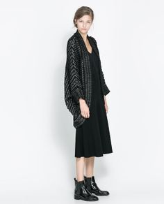 ZARA - NEW THIS WEEK - JACQUARD WRAP-AROUND CARDIGAN