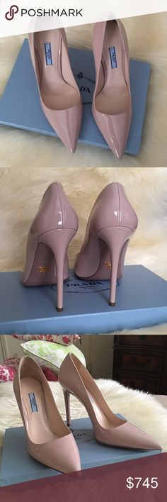 Prada pointy pump NWT.....size 10 or EUR 40 but fits a size small.....$650 Pypal Prada Shoes