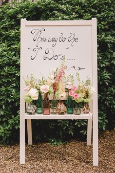 Handmade wedding sign. Photography by Murray Clarke