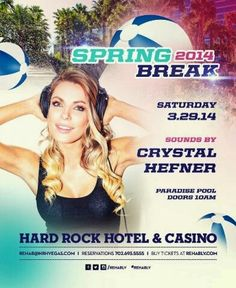 REHAB Las Vegas Saturday March 29th with Crystal Hefner. 702.741.CITY(2489) City VIP Concierge for Cabanas, Daybeds, Bungalows, Tickets and the Best of Any & Everything Fabulous in Las Vegas!!! #RehabLasVegas #SpringBreakVegas #CityVIPConcierge **CALL OR CLICK TO BOOK** http://cityvipconcierge.wantickets.com/Events/154090/Rehab-Saturdays-Crystal-Hefner/