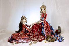 Dunyazade and Scherezhade - Enchanted Dolls by Marina Bychkova
