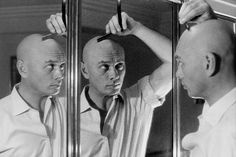 Yul Brynner ~ my favorite bald man ever! Bald With Beard, Bald Man, Bald Men Style, Yul Brynner, Paris Match, Bald Heads, Actrices Hollywood, Music Tv, Photos Du