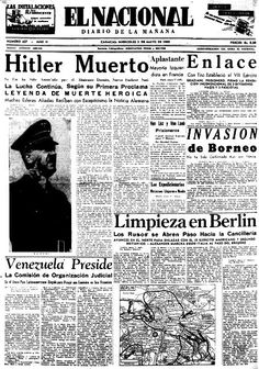 Hitler ha muerto. Publicado el 2 de mayo de 1945.