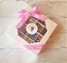 Pink Halal Sweet Box-Birthday Girl-Personalised Halal Sweet Chocolate Box-Halal Gift For Her-Halal Sweet Treat-Party Favors-Eid Sweet Treats Pink Happy Birthday, First Birthday Parties, Boy Birthday, Birthday Wishes, Sweet Cones, Chocolate Gift Boxes, Sweet Box, Presents For Boyfriend, Gift Cake