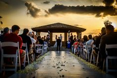 Beautiful Sunset Wedding Ceremony