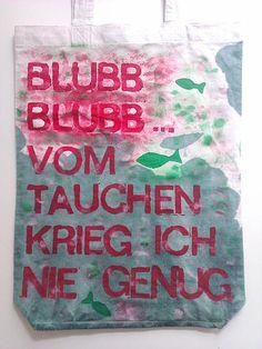 Grosse tote bag - da passen alle Badesachen hinein! Jute, Austria, Germany, Reusable Tote Bags, Design, Shopping, Deutsch, Design Comics, Burlap