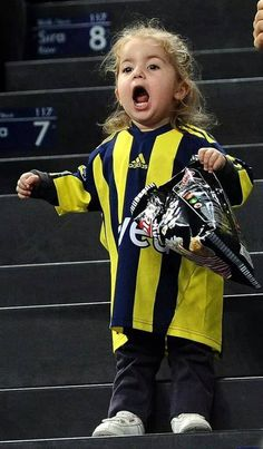 Little girl in stadium. #Fenerbahçe #UltrasWorld