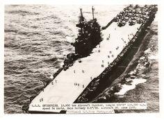 USS Enterprise (CV-6) underway, circa 1943-1944. Location unknown.