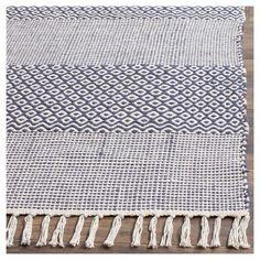 Ivory/Navy (Ivory/Blue) Geometric Woven Square Area Rug - (6'X6') - Safavieh