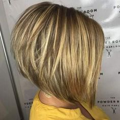 The Full Stack: 50 Hottest Stacked Haircuts Stacked Blonde Balayage Bob Blonde Balayage Bob, Golden Blonde Highlights, Blonde Layers, Short Hair With Layers, Short Hair Cuts, Short Hair Styles, Bronde Bob, Bob Styles, Inverted Bob With Layers