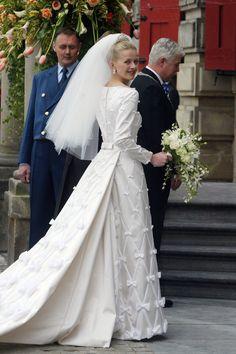 Dutch Prince Johan Friso and his bride Mabel Wisse Smit at their 2004 wedding.   - HarpersBAZAAR.com