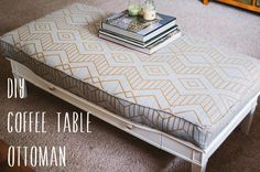 DIY Coffee Table Ottoman DIY home furniture LOVE LOVE LOVE