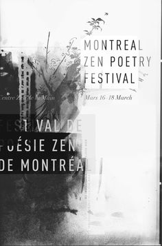 Montreal Zen Poetry Festival: nice idea for ER course: not super clean, but texture is wonderful.