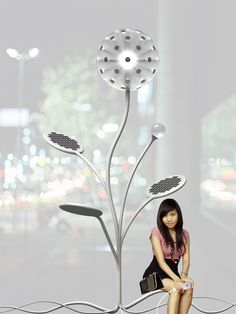 Eva Harlou I'm impressed . solar lamp, energy to recharge devices, a place to sit. Solar Lamp, Solar Power System, Residential Architecture, Solar Energy, Creative, Advertising, Packaging, Running, Design