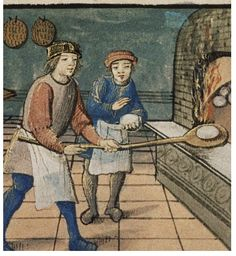 Baking. detail Fr. c,1500. MS canon.liturg 99. Bodl Lib. by tony harrison, via Flickr