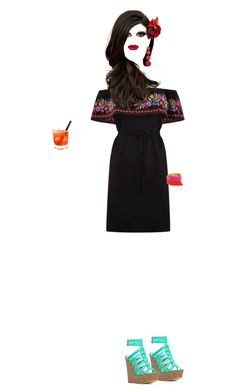 """""""It's another tequila sunrise..."""" by grownuppaperdolls ❤ liked on Polyvore featuring art"""