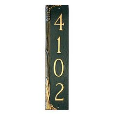 Montague Metal Products Wheat Column Address Plaque Finish: Swedish Iron / Black, Mounting: Wall