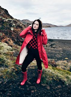 Ilse Jacobsen wellies shot on Iceland.