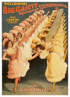 antique victorian burlesque show poster chorus by FrenchFrouFrou