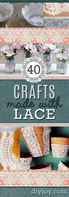 DIY Projects Made With Lace