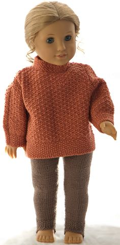 Knitting patterns for american girl doll sweater