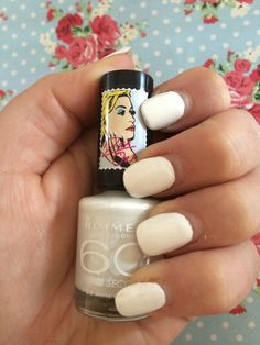 All white nails - Rimmel by Rita Ora 60 Second Nail Polish - White Hot Love