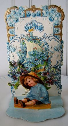 Vintage Valentine Pop Up Card Germany Antique by willowpaige, $18.00: