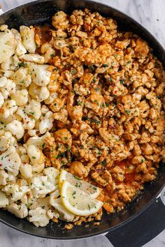 Garlic Butter Turkey with Cauliflower – – A rich and indulgent bowl of comfort with a healthy twist! – Garlic Butter Turkey with Cauliflower – – A rich and indulgent bowl of comfort with a healthy twist! Healthy Cooking, Healthy Eating, Cooking Recipes, Dinner Healthy, Healthy Grilling, Cooking Gadgets, Healthy Dishes, Sausage Recipes, Grilling Recipes