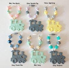 Train Silicone Teething Ring - baby teething sensory toy teether teething toy chewbeads Carrier Teethe by SDDesignsCa #SDDesigns #Etsy #Handmade #Teether #Mommies