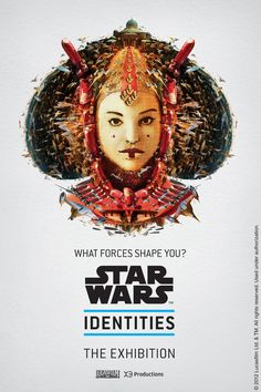 BleuBlancRouge - Posters for a Star Wars Exhibition Montréal. Queen Amidala
