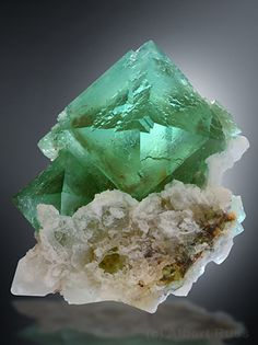 Fluorite - the Rainbow Beauty This rare green one is from South Africa.