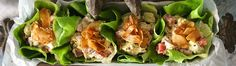 Vegan BLTA Lettuce Cups with Coconut Bacon! - Rawmazing Raw and Cooked Vegan Recipes