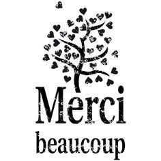 Tampon bois 'Artemio' Merci Beaucoup - La Fourmi creative