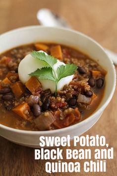 sweet potato black bean black bean sweet potato and red quinoa soup an ...