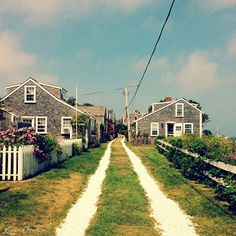 Nantucket love the paths made by crushed white shells