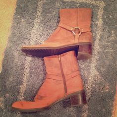 Carmel Brown Western Ankle Boots 🎉 HP - Casual Friday Party 09/02/16 🎉 Used | Good Condition | Carmel Brown | Western Style | Signs of Natural Wear | Zipper on Sides | Real Leather |🚫 Trades | Feel Free to Ask Questions 🙋| More 📷 Upon Request | Bundles & Offers are Welcomed ❤️| Nine West Shoes Ankle Boots & Booties