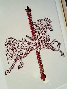 Carousel - Original Papercut by PaperPandaCuts on DeviantArt