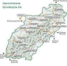 Übersichtskarte Schwäbische Alb
