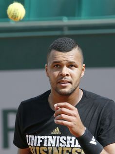 French player Jo-Wilfried Tsonga takes part in a practice session before the French Open on May 22.  PATRICK KOVARIK, AFP/Getty Images