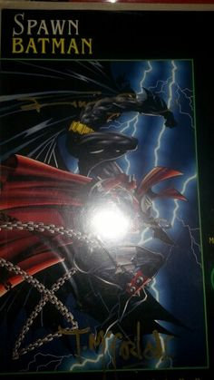 Frank Miller an d Todd Mcfarlane signed Spawn/Batman