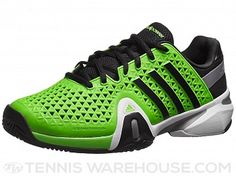 size 40 a2fe9 06ceb adidas Barricade 8+ Green Black Men s Shoe. Adidas BarricadeTennis  WarehouseTennis ...