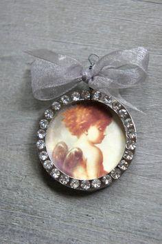 Christmas ornament angel ornament handmade tree ornament by mysweetmaison