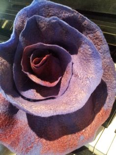 Scarf ruffled purple/ burgundy  felted by oksana on Etsy, $50.00