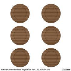 Button Covers Fashion Royal Blue Jewel Artistic 06
