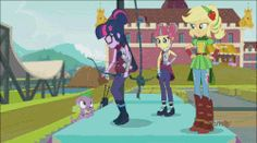 Size: 650x362 | Tagged: animated, applejack, equestria girls, friendship games, human twilight, magic capture device, nope, safe, screencap, sour sweet, spike, spike the dog, spike the regular dog, spoiler:friendship games, twilight sparkle