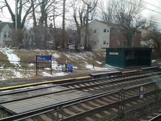 The Sharon Hill SEPTA regional rail station along the Wilmington/Newark line in Sharon Hill, PA.