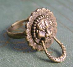Chinese Lion Doorknocker Ring