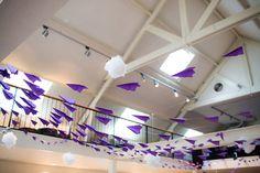 purple airplanes at wedding