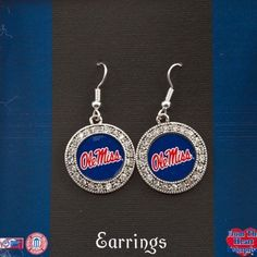 $18.95 Collegiate Jewelry, Silver Tone University of Mississippi, Ole Miss Dangle Earrings, Round with Rhinestone Accents. Value Line, http://www.amazon.com/dp/B009BEBXNO/ref=cm_sw_r_pi_dp_VWIYqb0J2E69W