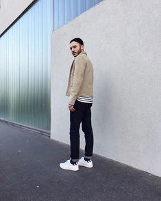 Paolo et ses sneakers agnès b. x clae